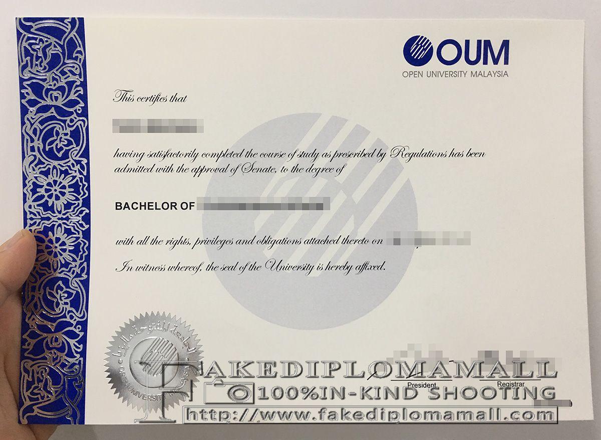 Open University Malaysia degree, OUM diploma, OUM bachelor