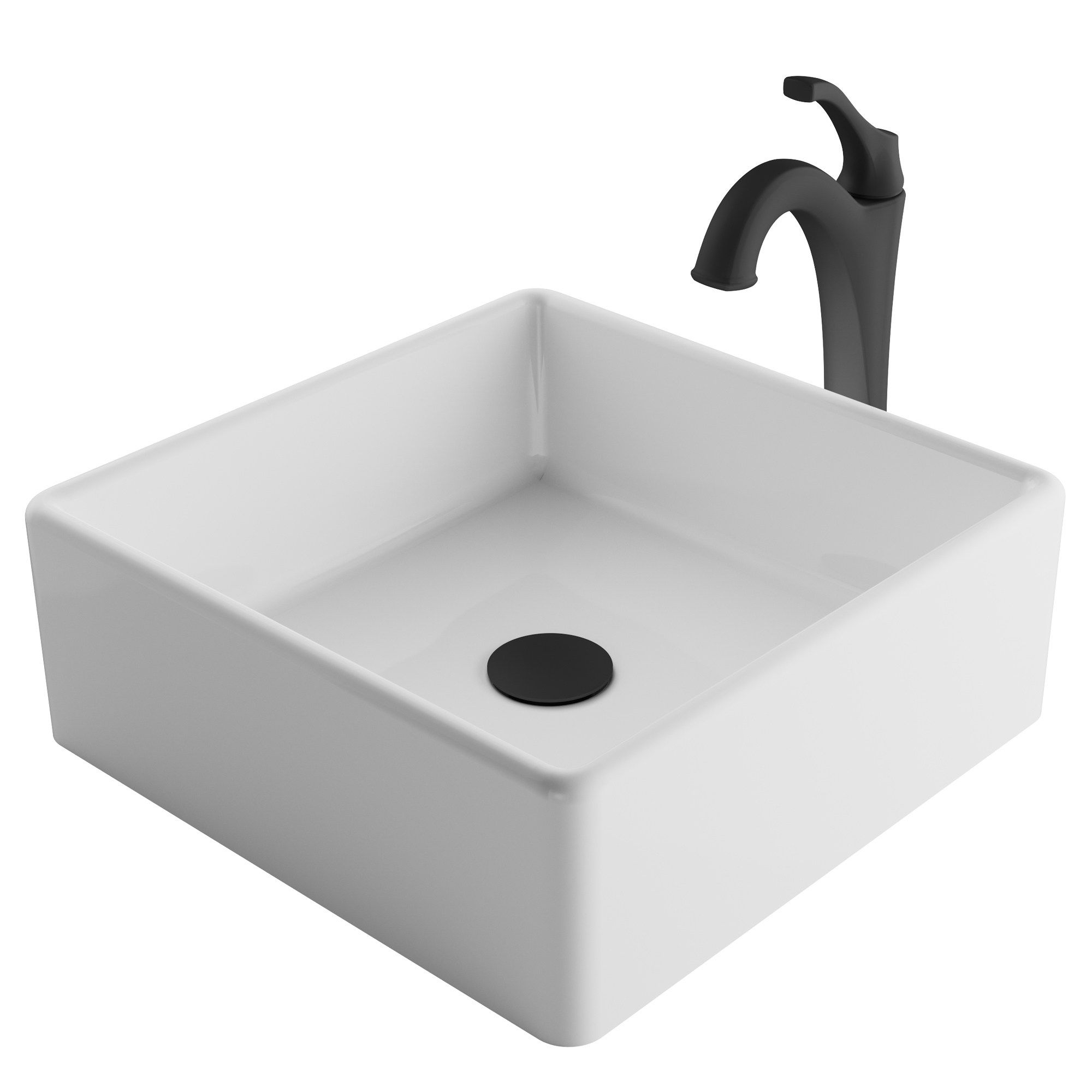 Kraus 3 In 1 Bathroom Set C Kcv 120 1200 White Ceramic Square