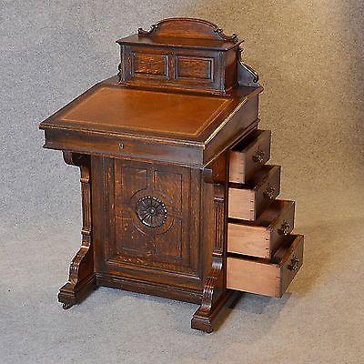 Antique Davenport Desk Victorian English Oak Pedestal Writing Study Table  C1870 | eBay - Antique Davenport Desk Victorian English Oak Pedestal Writing Study