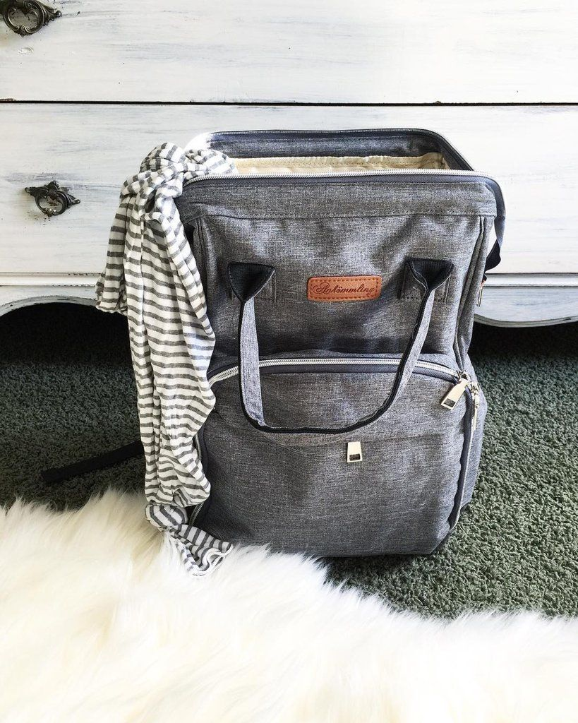 The City Diaper Bag Backpack with Luggage Attachment