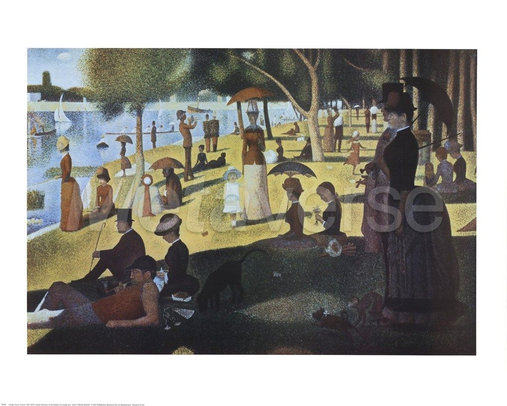 Sunday Afternoon on the Island of La Grande Jatte, c.1886 famous painting at FamousPaintings.com