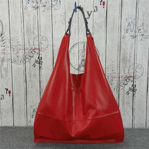 2017 New Cow Leather Ladies Hand Bags Women Genuine Leather Hobos Shoulder  Bag Simple Joker Designer Luxury Brand Handbag L082 51549b4c91
