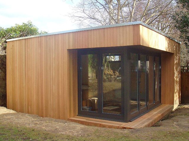 Best Moved Flat Roof Shed Cedar Cladding Flat Roof Extension 640 x 480