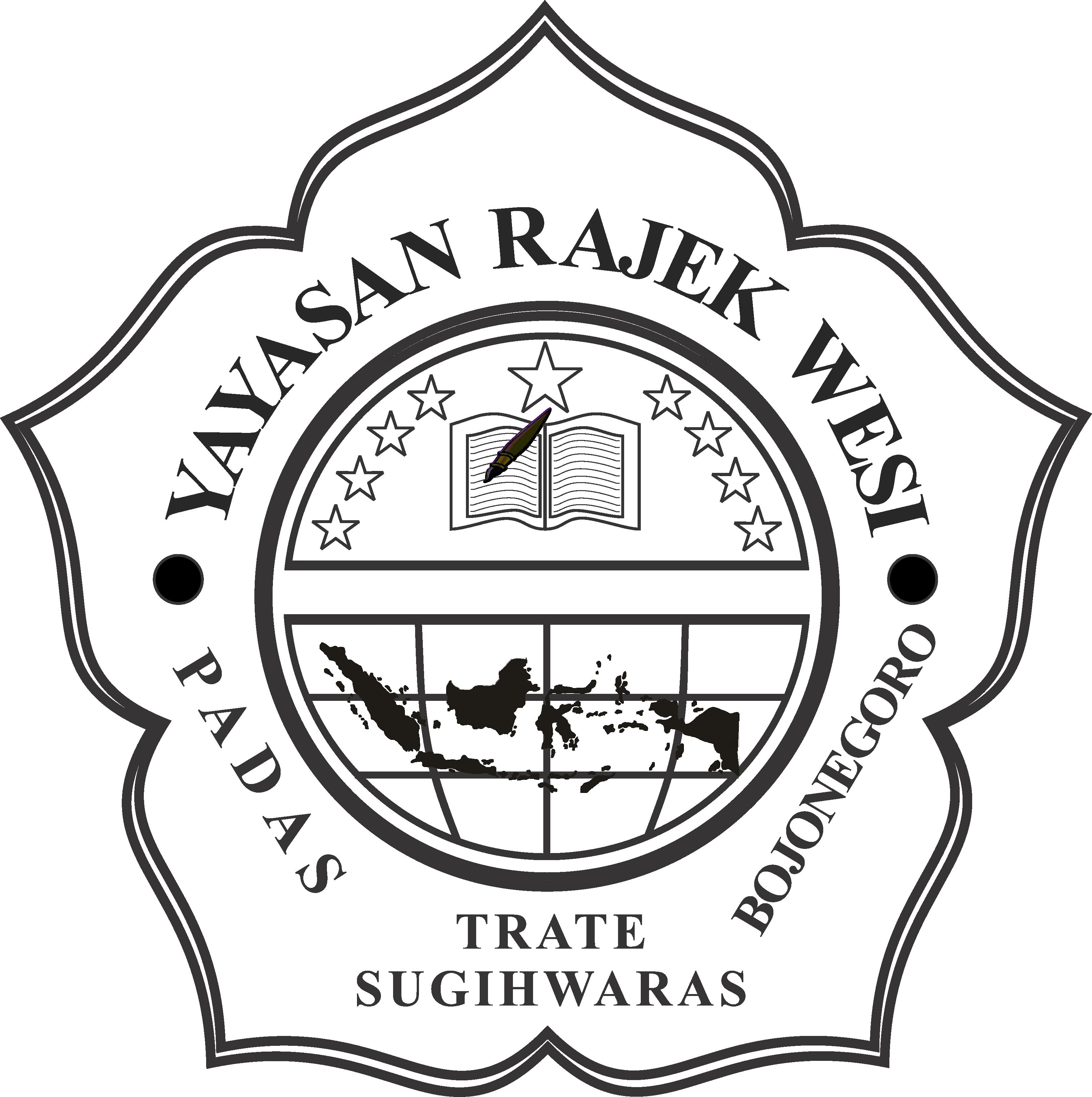 Logo hitam putih Yayasan Rajek Wesi Padas Jangan lupa