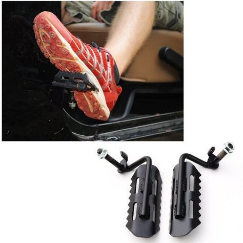 E Cowlboy Black Metal Foot Pegs Foot Rest Kick Panel For Jeep
