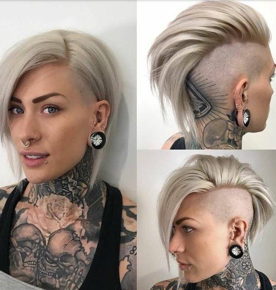 Kurzes Haar Blond Tattoo