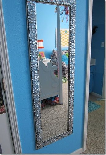 Large Mirror In Bedroom With Lights