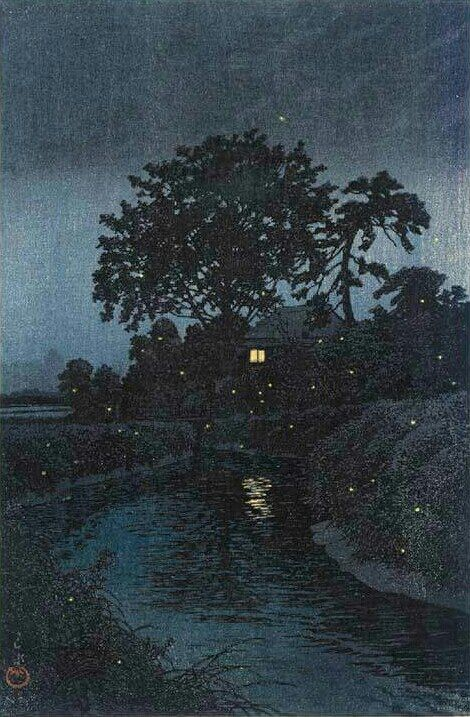 Minuma River, Omiya - Kawase Hasui, 1930. Japanese, 1883-1957 Woodblock print