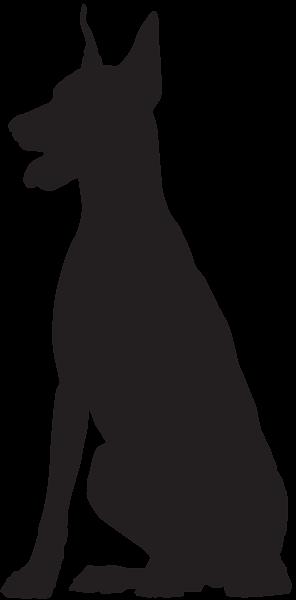 doberman silhouette png clip art image