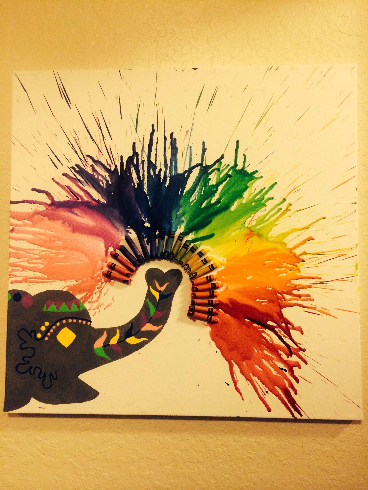 Crayon art! | FSA ART ATTACK | Pinterest | Wachsmalkreide ...