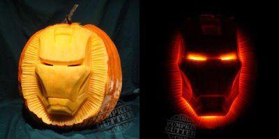 Avenger Pumpkins The Avenger Initiative Cool Iron Man Pumpkin