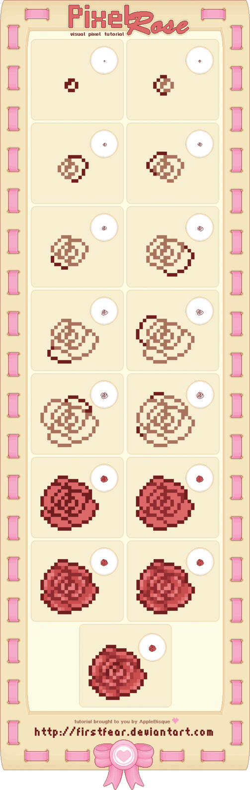 Tutorial  Pixel Rose By Firstfear