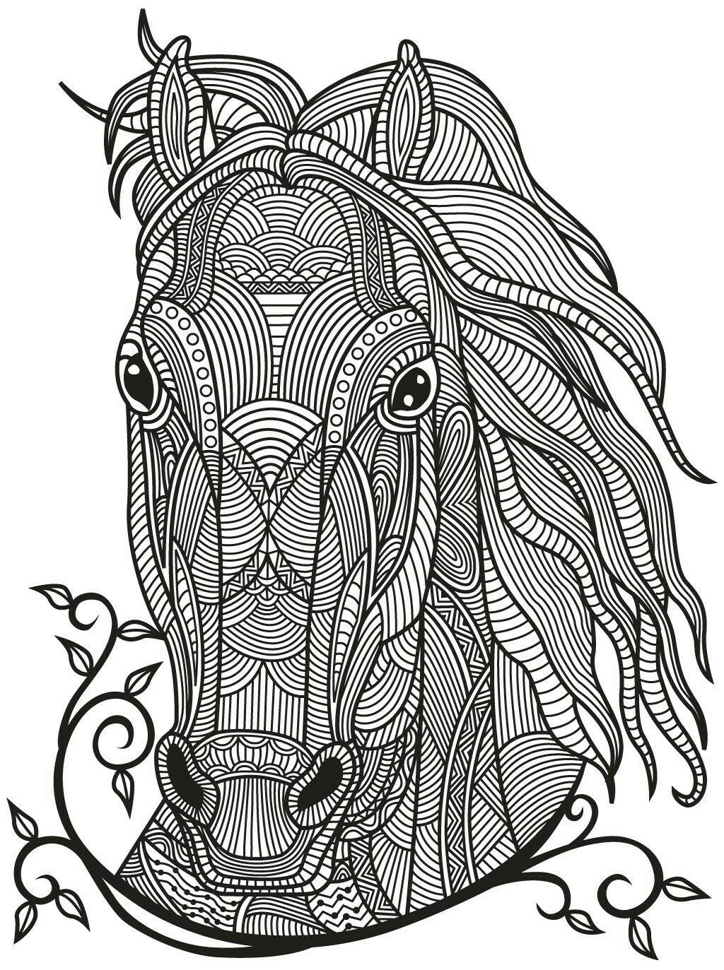 Horse Zentangle