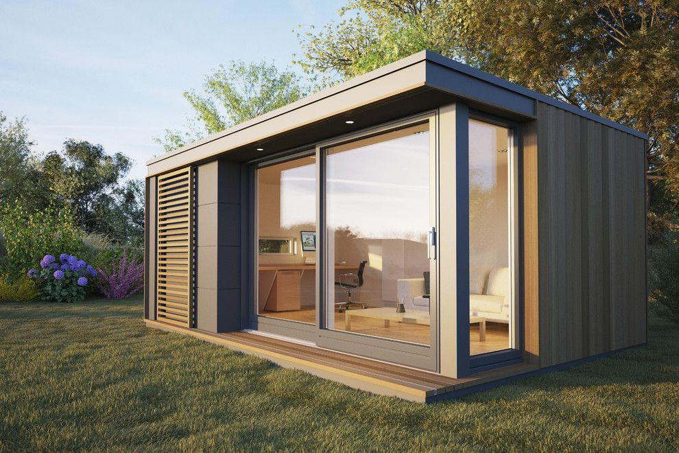 home office pods. Home-office-pod-Home-Office-Contemporary-with-cedar- Home Office Pods L