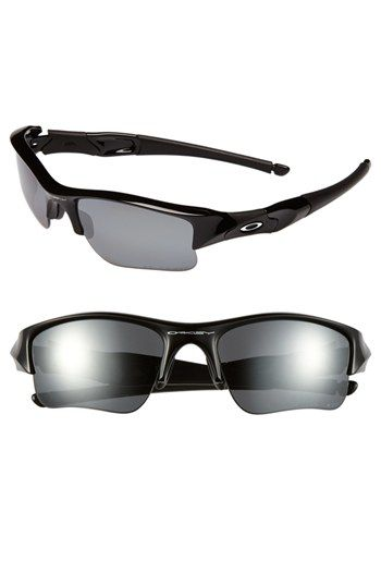 Men s Oakley  Flak Jacket  63mm Polarized Sunglasses - Jet Black Óculos De  Sol Da 82a9a3cf28