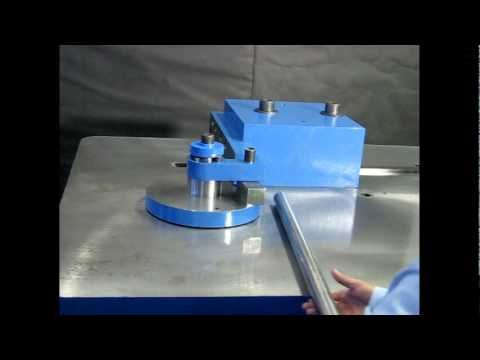 Solid Round Bar Stock Bender, 1.75 IN OD 4140, PEDRICK Model DD-20 - YouTube