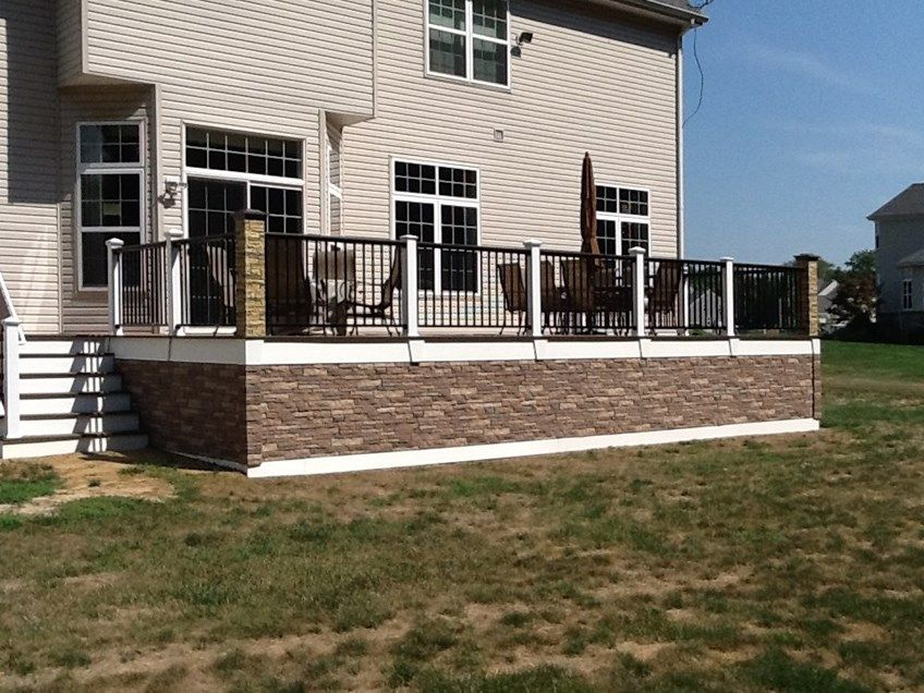 Faux Stone Skirted Picture 1125 Decks Com Stone Deck