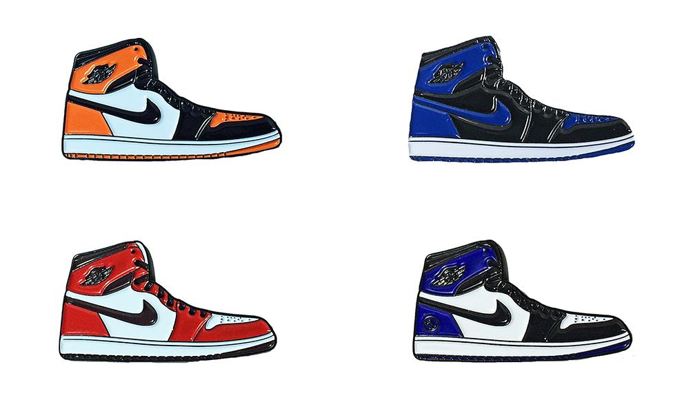 504b3afb113f8 Nike Jordan 1 Four Sneaker Lapel Pin Pack   Shoes   Jordan 1, Nike ...