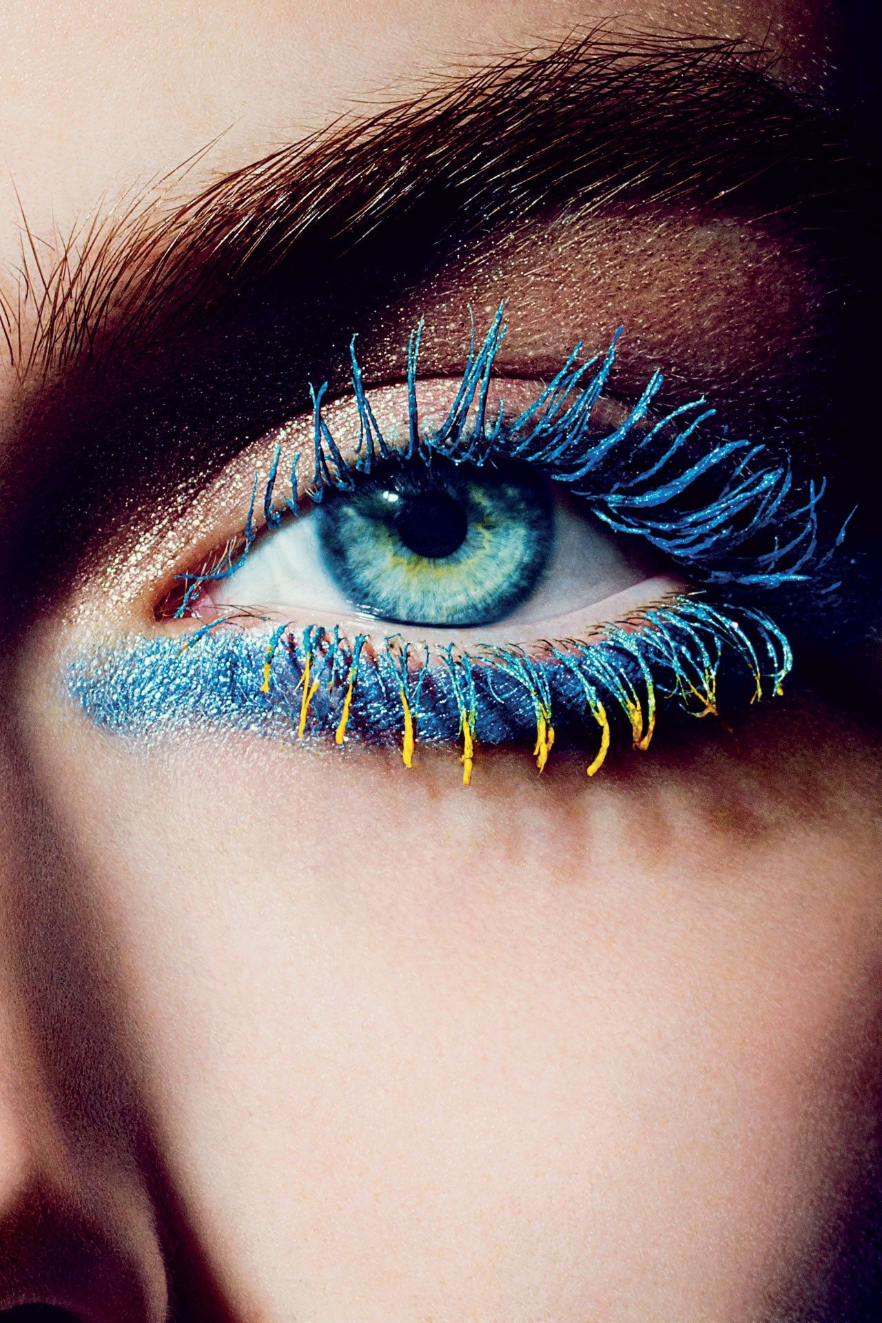 Would You Wear Yellow Mascara? Colored mascara, Blue