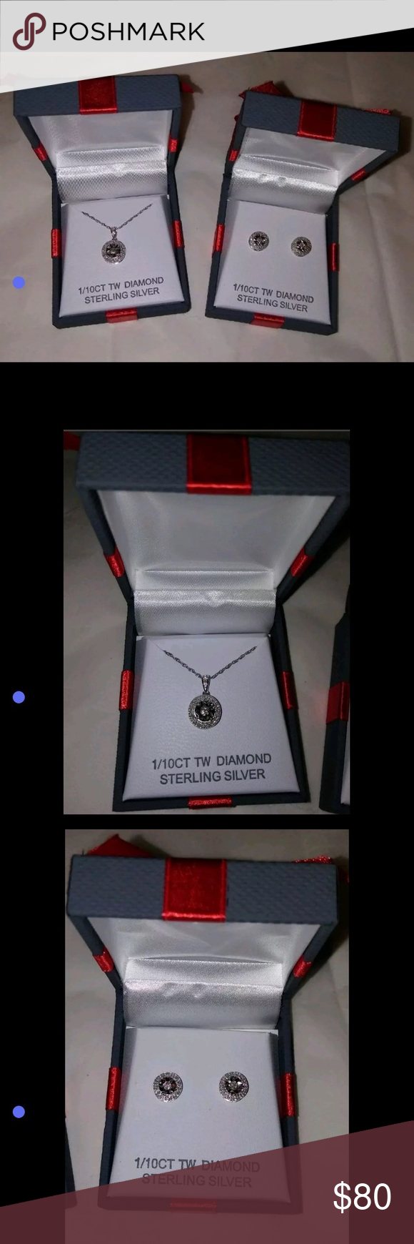 Sterling & Diamond jewelry set Mothers Day! Brand new In ...