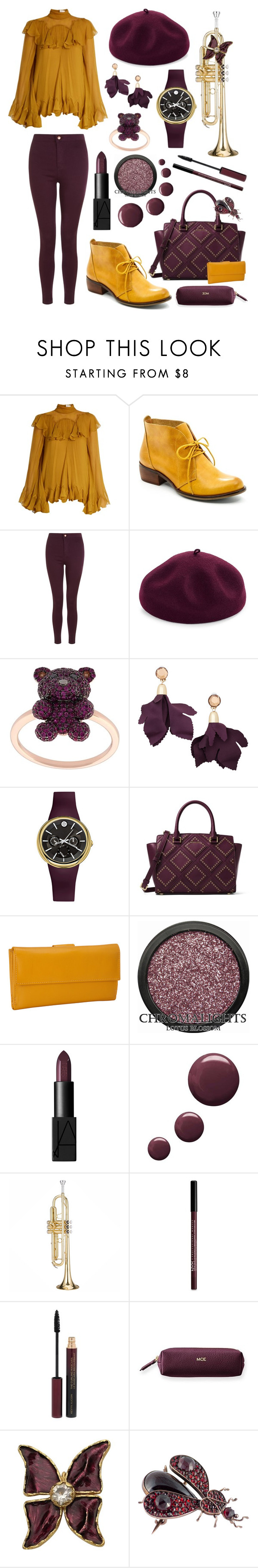 """Smooth Jazz I"" by rinnypooh2 ❤ liked on Polyvore featuring Chloé, Latigo, Kathy Jeanne, Khai Khai, MANGO, Philip Stein, MICHAEL Michael Kors, R & R Collections, NARS Cosmetics and Topshop"