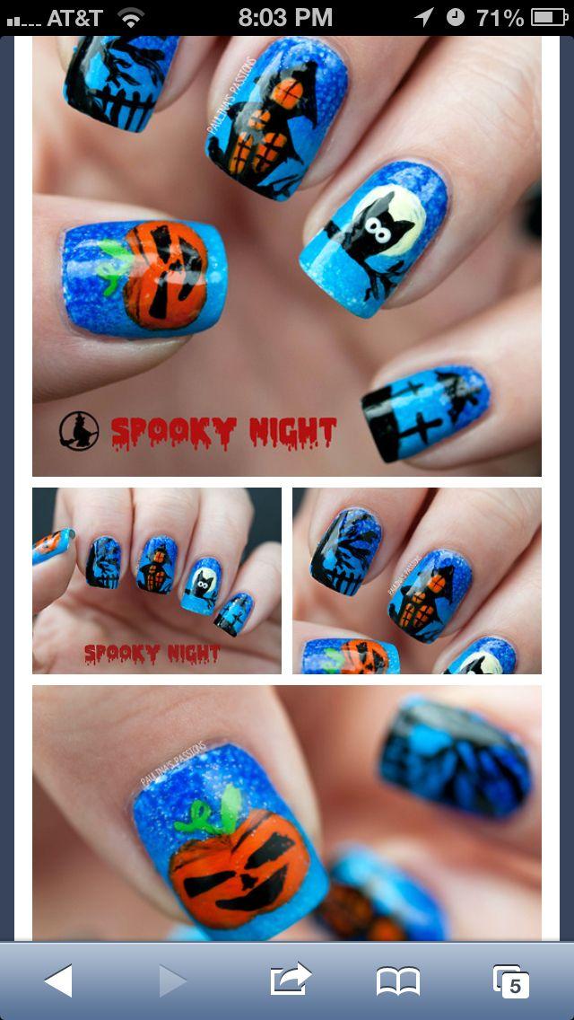 #halloween #prints #nails #holidays #polish #nailart #manicure #naildesign