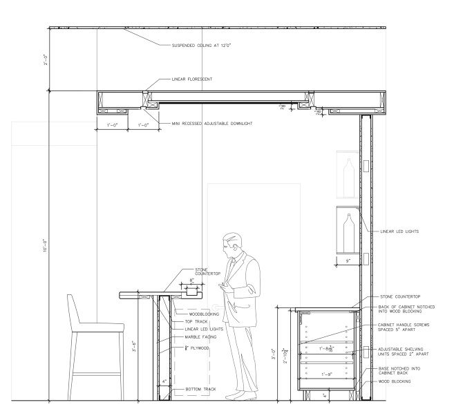 Image result for bar section detail drawing student - Divanetti bar dwg ...