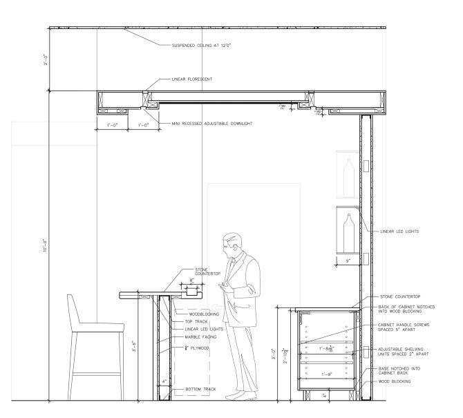 Bar counter detail drawing ile ilgili grsel sonucu Bar t