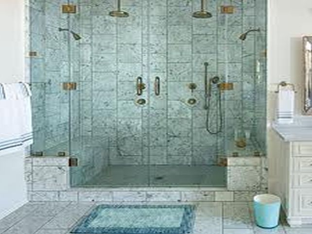 Coastal Bathroom Tile Ideas: Master Bathroom Shower Inspiration Such As
