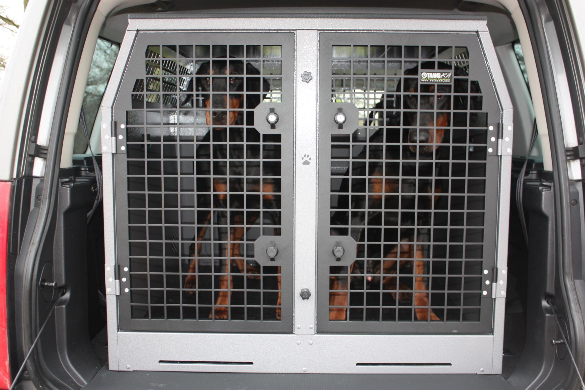Dobermanns In Transk9 B10 Dog Transit Cage Dog Box Dog Crate Pet Carriers Crates