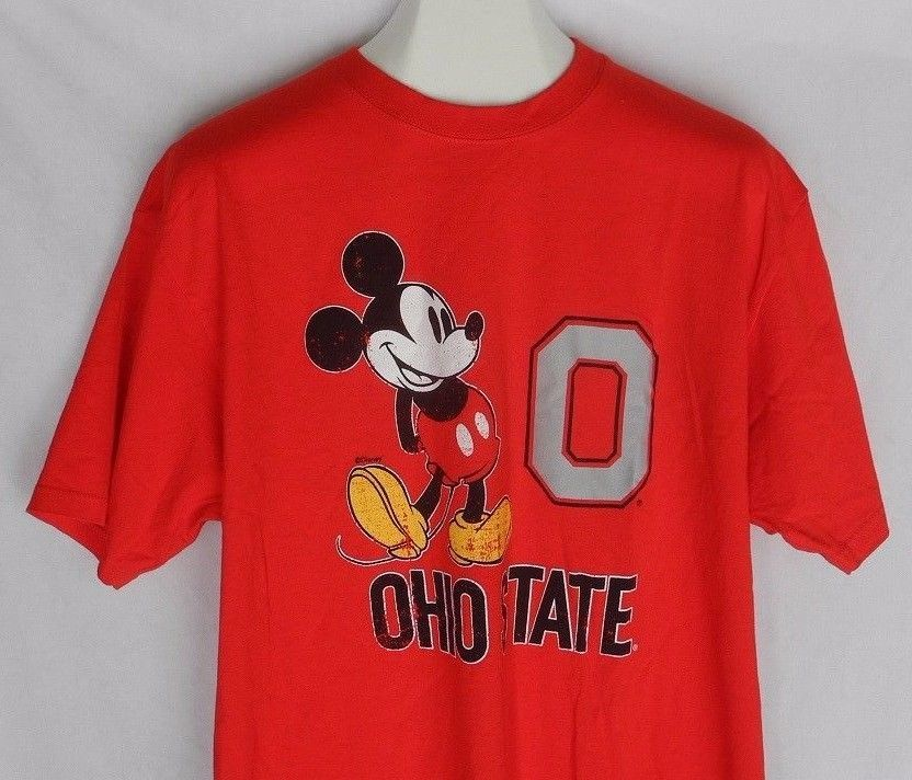 purchase cheap 6ee15 658d1 Mickey Mouse Ohio State Buckeyes T Shirt Block O Disney Brutus Columbus  Soffe XL  Soffe  OhioStateBuckeyes