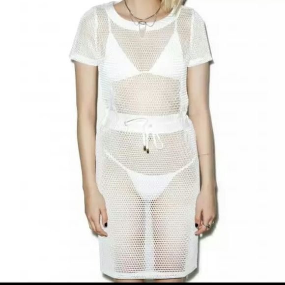 Mesh dress Mesh dress by rehab also sold by nasty gal Size small but fits smaller rehab Dresses