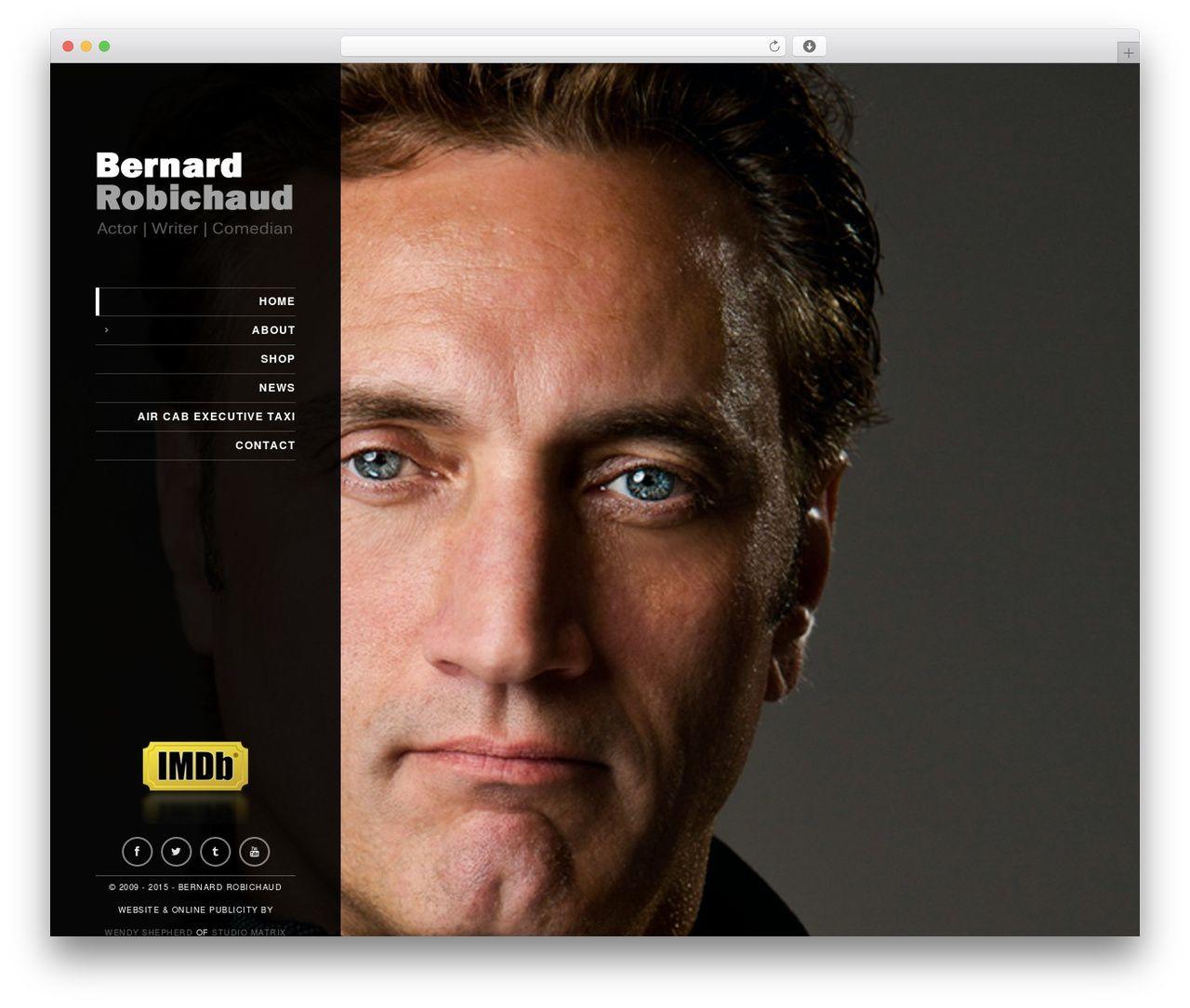 Photo Reactive Fullscreen For Wordpress Wordpress Website Template