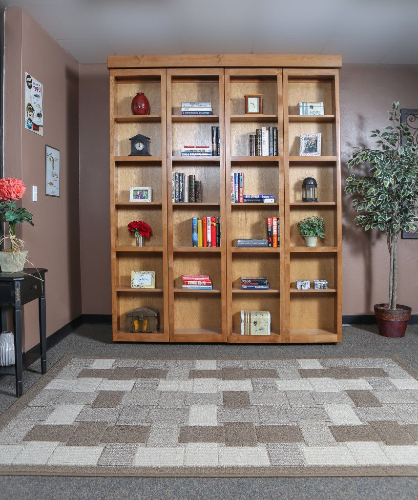 Library Wallbed Bed wall, Bookcase styling, Home