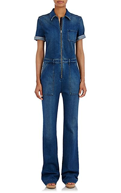 310f1bd4e10a Stella McCartney Denim Wide-Leg Jumpsuit - Jumpsuits - Barneys.com ...