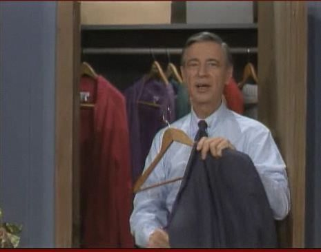 Mister Rogers Closet Of Cardigans Mr Rogers Mister Rogers Neighborhood Fred Rogers