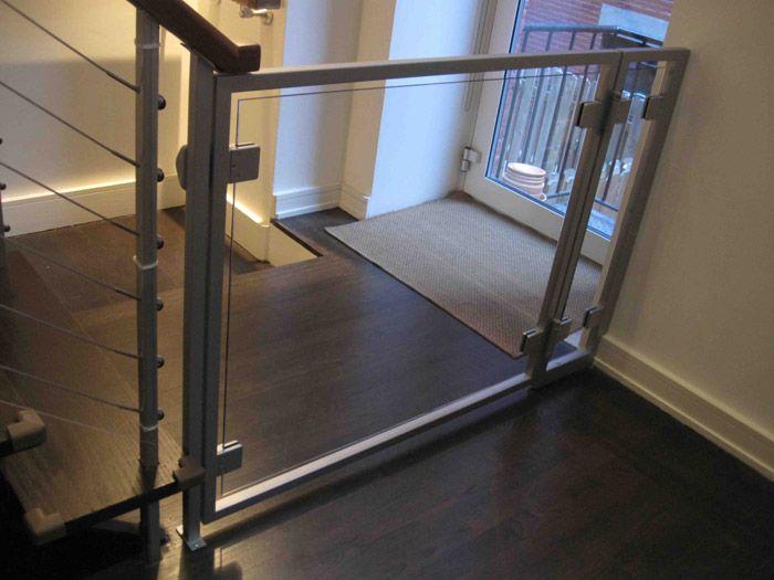 AC Glass Baby Gate   Misc Custom Furniture   Furniture   Product Gallery    Morgik Metal Designs