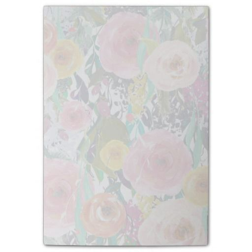 Watercolor Flowers or Personalized Photo Post-it® Notes