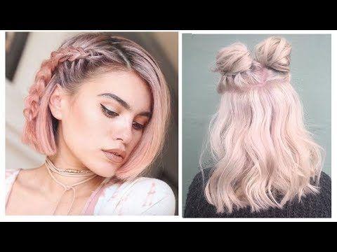 Peinados Tumblr Faciles Para Cabello Corto 2017 Youtube
