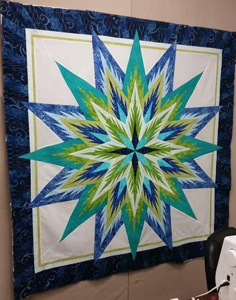 Feathered Star, Quiltworx.com, Made by Mindy Ellen Reeves