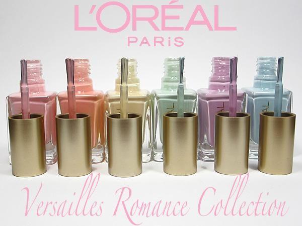 A Pastel Manicure with L'Oréal Paris Colour Riche Versailles Romance Collection.