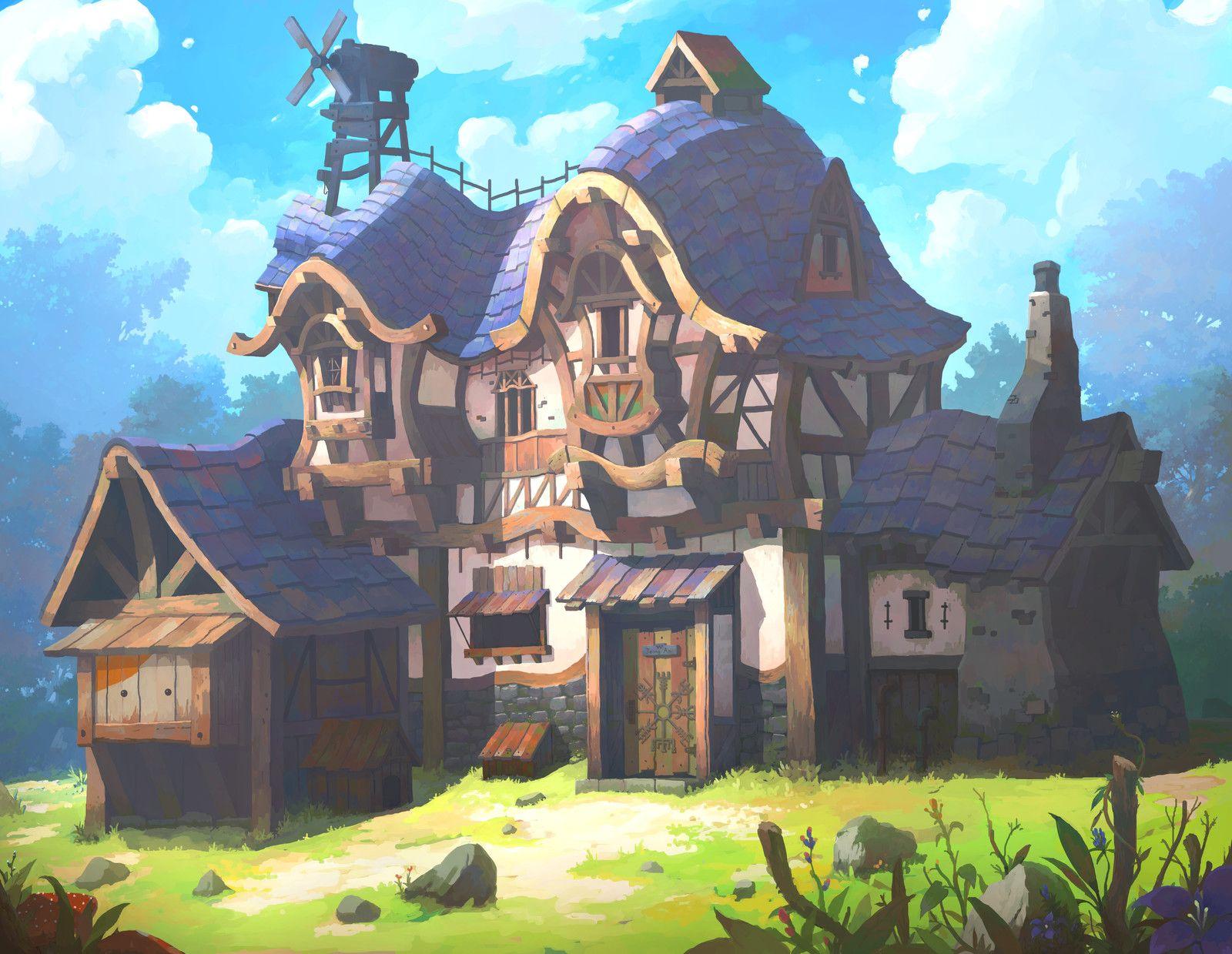Purple House Oku On Artstation At Https Www Artstation Com