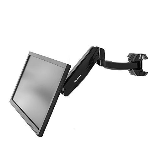 Height Adjustable Articulating Single Arm Monitor Wall Mount Gas Spring Arm Quick Release Samsung Dell Asus Acer Hp Aoc Le Height Adjustable Wall Mount Monitor
