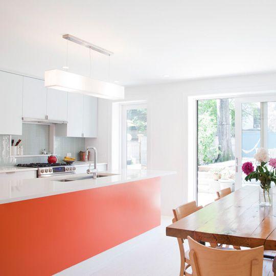 Look! A Tangerine Kitchen Island