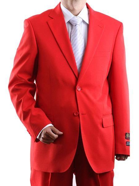 Bolzano Men/'s Classic Fit Two-Piece Notch Lapel Tuxedo Suit Set All Sizes