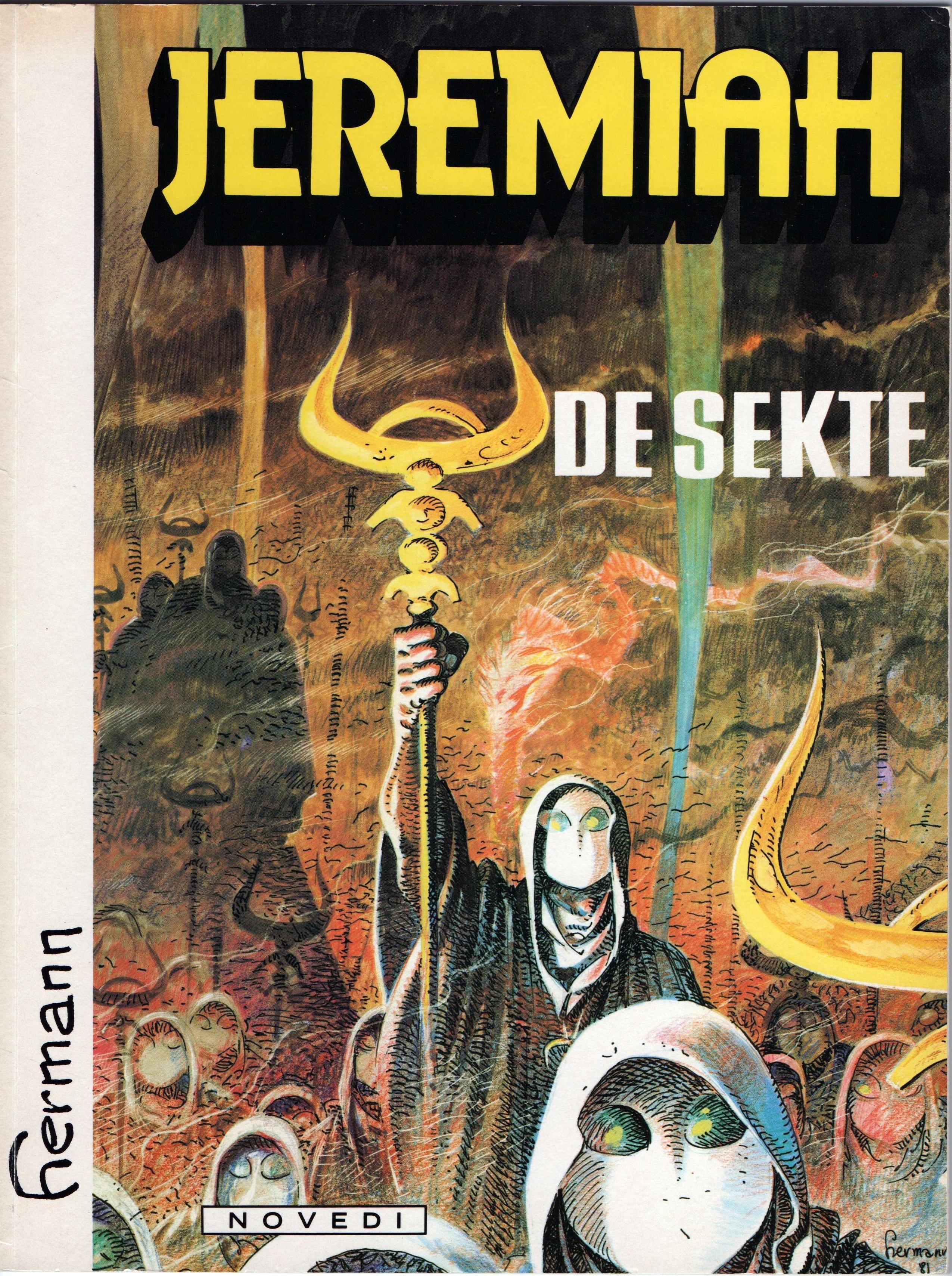 Jeremiah De Sekte Tekenaar Tekst Hermann Novedi 1982 Stripverhalen