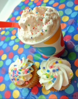 Homemade DQ confetti cake blizzard I need an ice cream maker