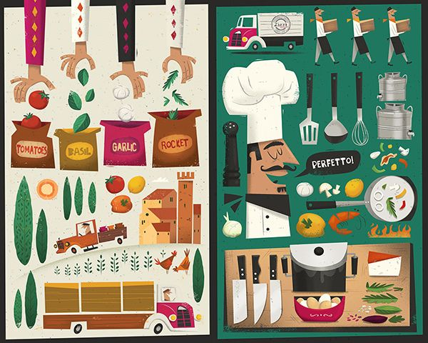 Illustrated Restaurant Menu by Peter Donnelly