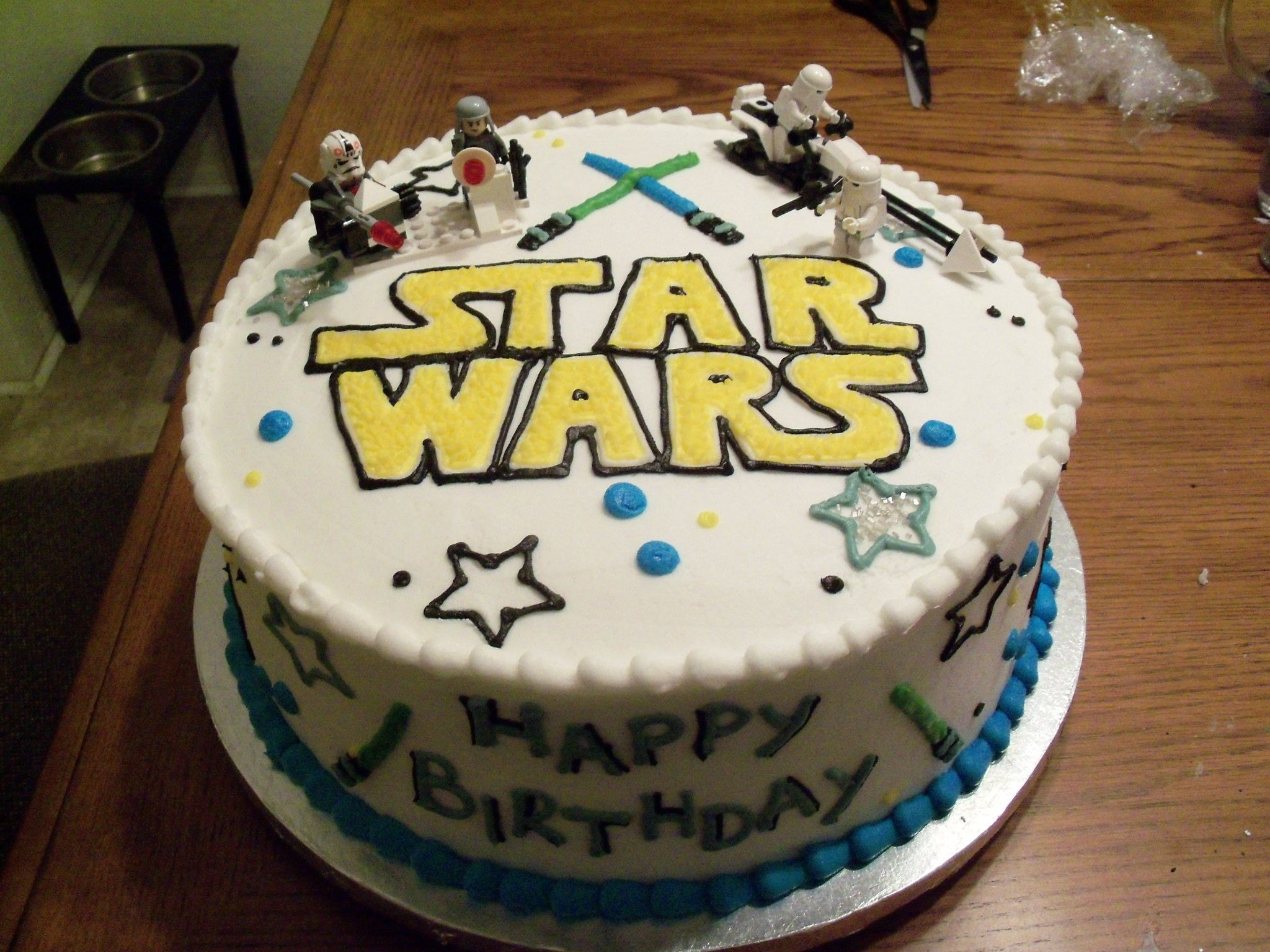 Light saber Star Wars cake Cooking Pinterest