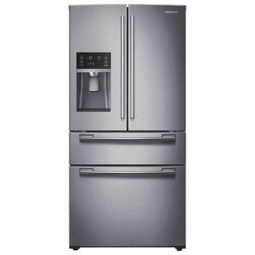 Samsung 33 247 Cu Ft 4 Door Refrigerator Rf25hmedbsr